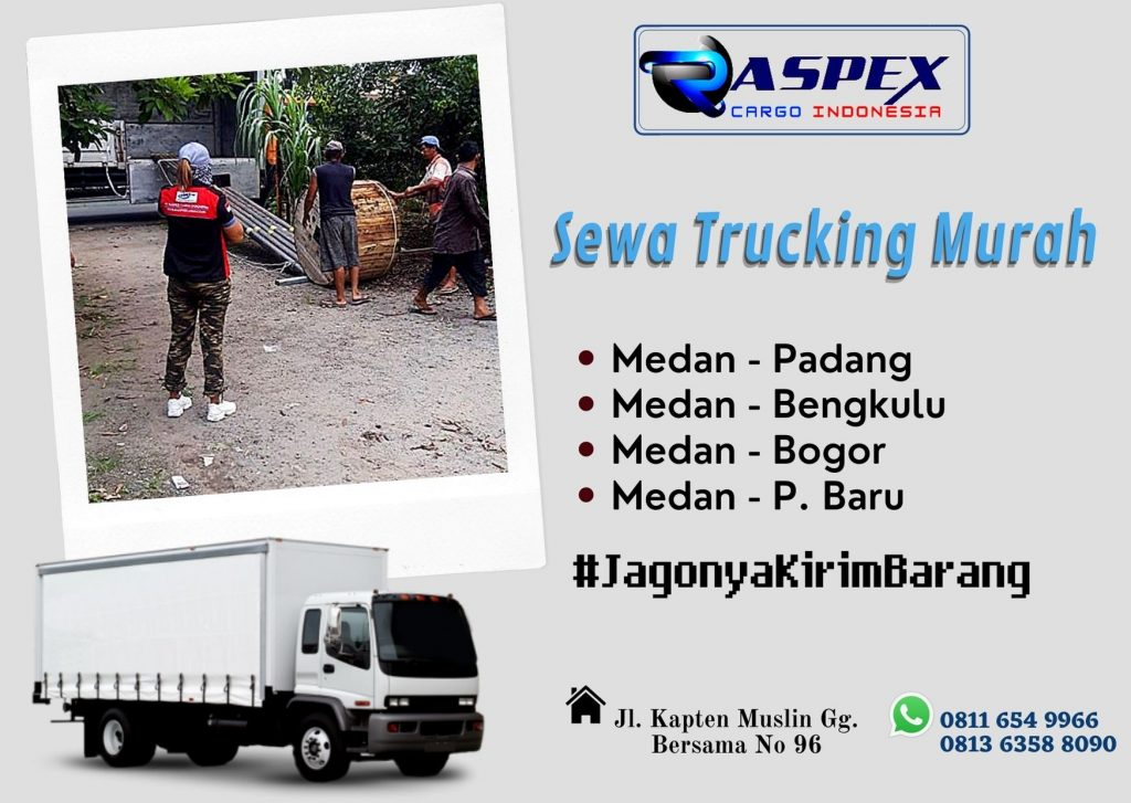 Jasa sewa trucking Medan all Indonesia | 0813 6358 8090
